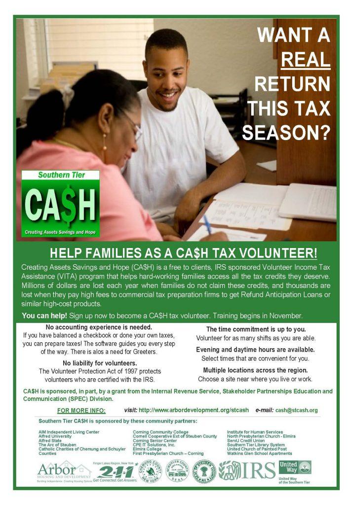2019 CAH Volunteers 715x1024 - STCA$H Program Seeks Volunteers