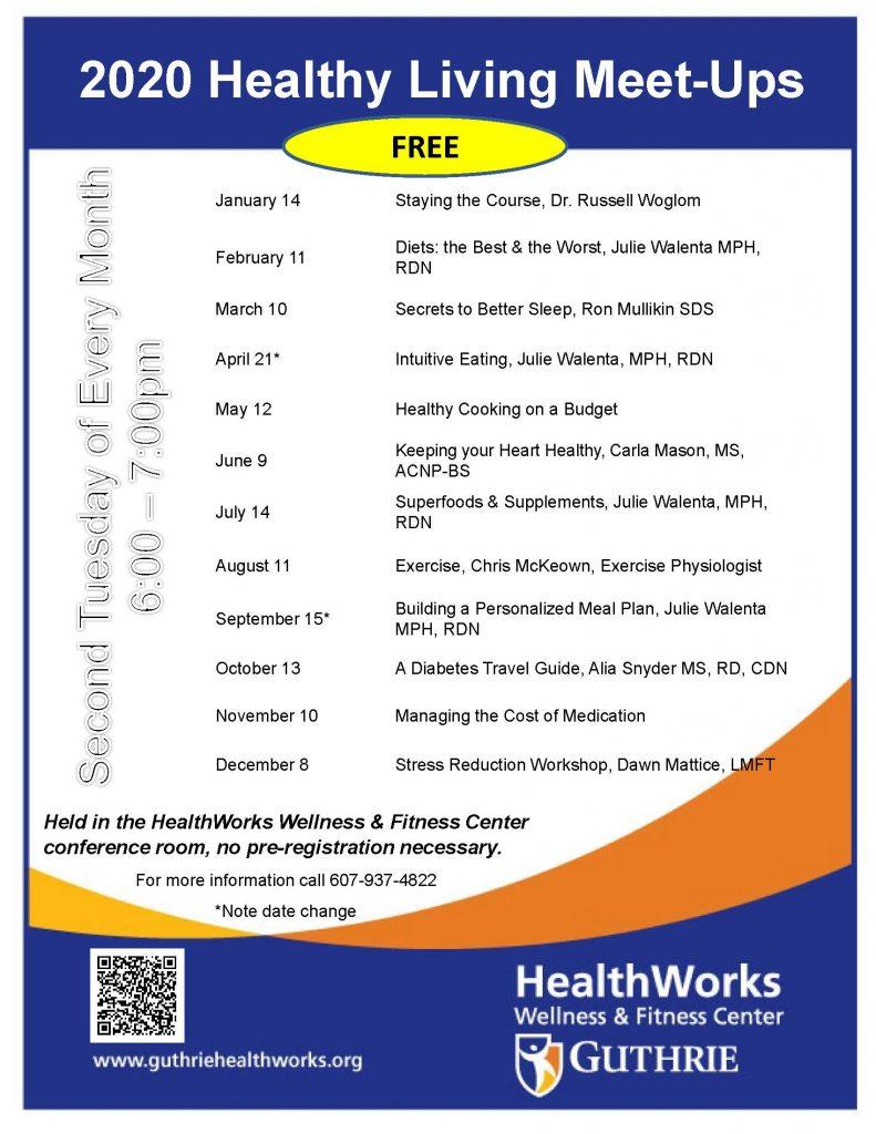 2020 Meet Ups Flyer 791x1024 - HealthWorks Healthy Living Meet-Ups