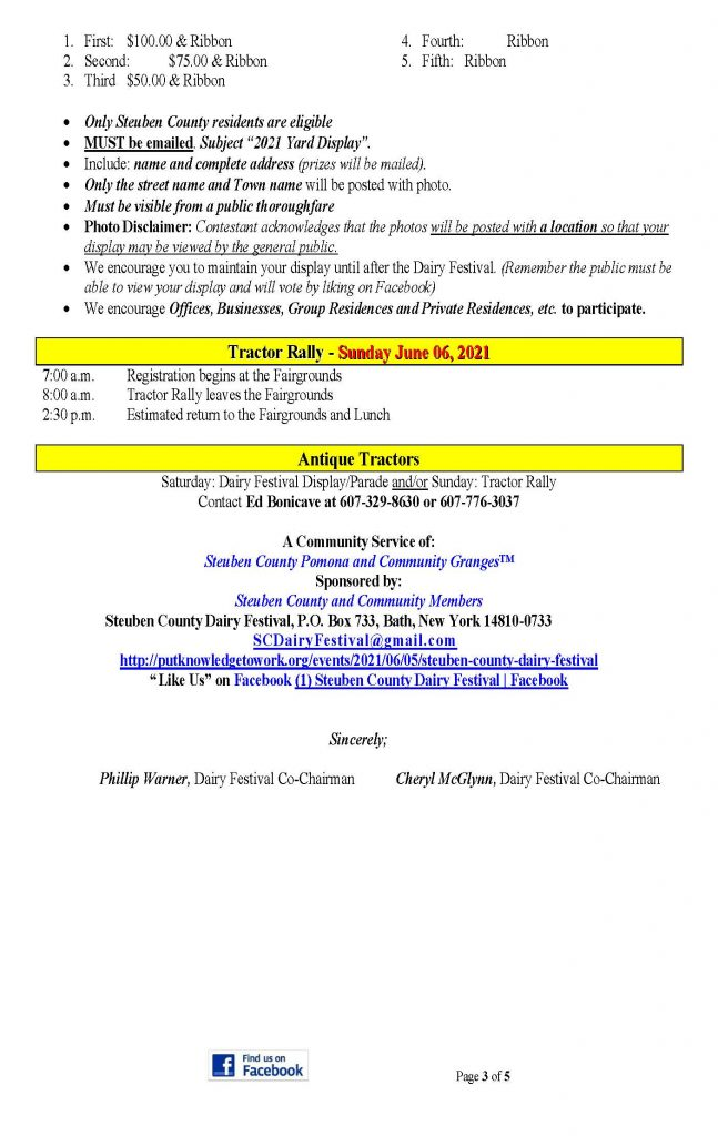2021 DF Press Release Page 3 647x1024 - Steuben County Dairy Festival Parade and Events Schedule