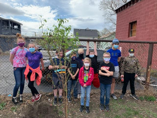 5 Tree YC Day of Service 5 Copy - Corning Youth Dedicate Day ofService to Memory of Laura Richardson Houghton