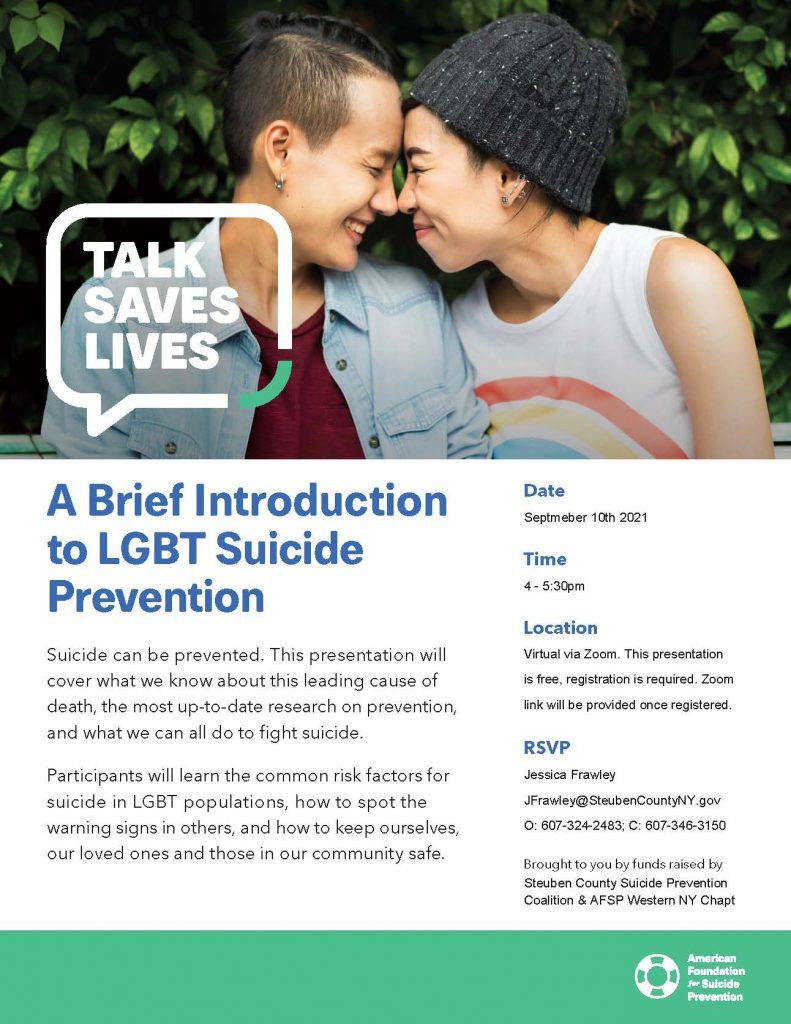 AFSP Talk Saves Lives LGBTQ September 2021 Fyler 791x1024 - Talk Saves Lives Suicide Prevention Virtual Presentations