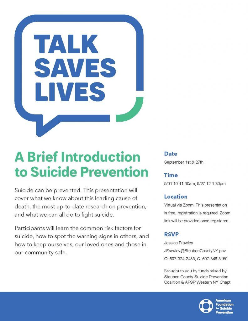 AFSP Talk Saves Lives September 2021 Fyler 791x1024 - Talk Saves Lives Suicide Prevention Virtual Presentations