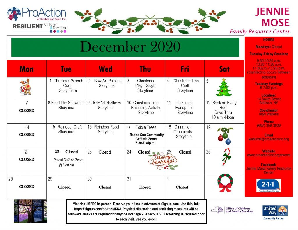 Addison FRC December 2020 1024x791 - Bath, Addison & Mobile Resource Center Schedules (December)