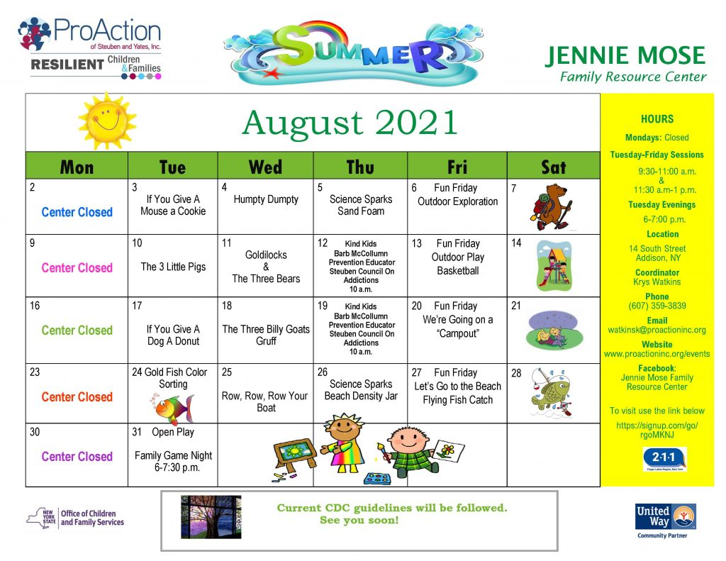 Addison JMFRC August 2021 1024x791 - ProAction Family Resource Center August Schedules