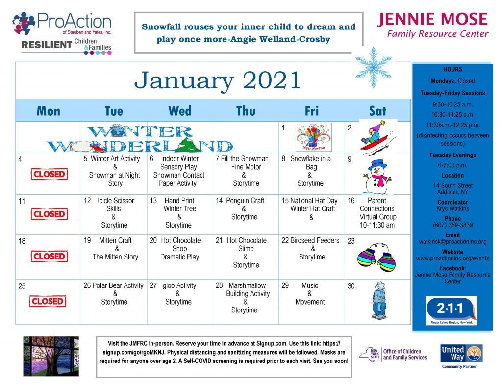 Addison JMFRC Calendar January 2021 1024x791 - Resilient Children and Families Community Calendar and Offerings