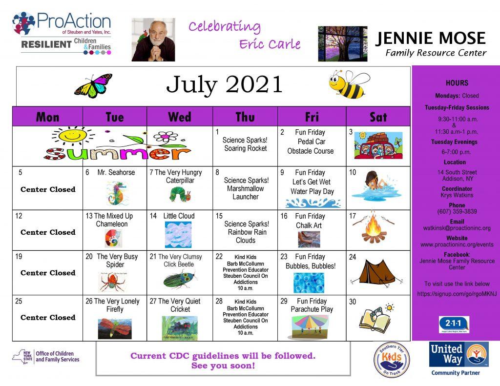 Addison JMFRC July Calendar 2021 1024x791 - ProAction Family Resource Center Schedules (July)
