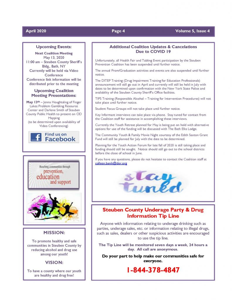 April 2020 Newsletter Page 4 791x1024 - Steuben Prevention Coalition - Ounce of Truth Newsletter