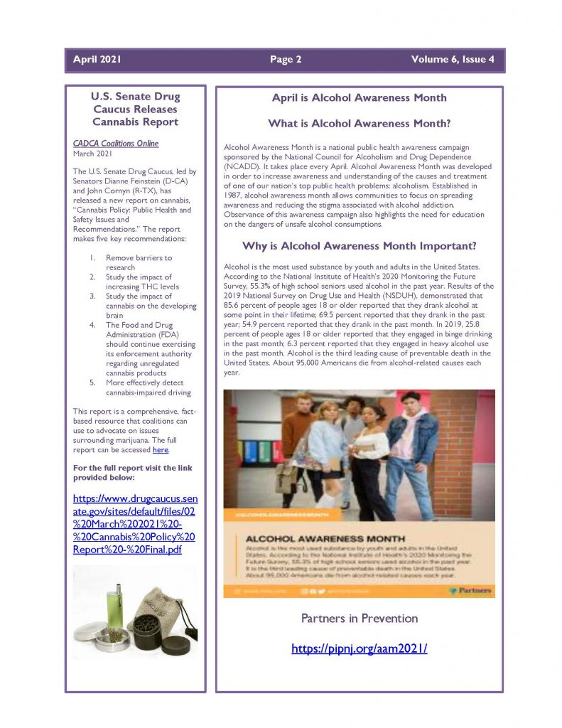 April 2021 Newsletter Page 2 1 791x1024 - Steuben Prevention Coalition - Ounce of Prevention (April)