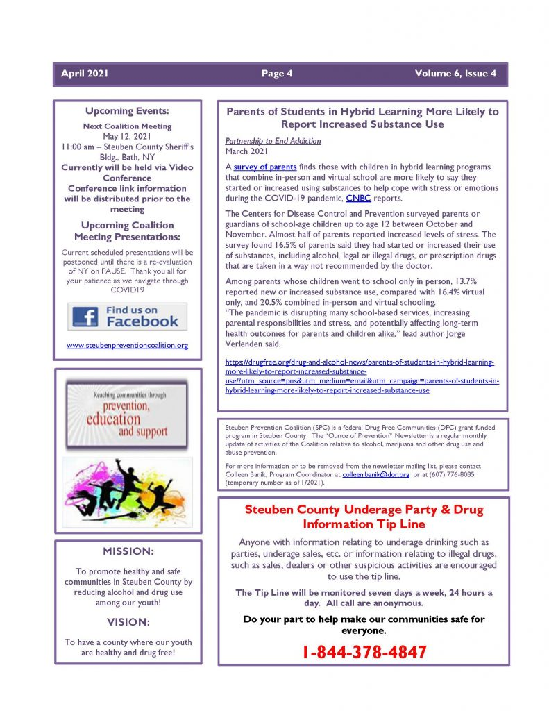 April 2021 Newsletter Page 4 791x1024 - Steuben Prevention Coalition - Ounce of Prevention (April)