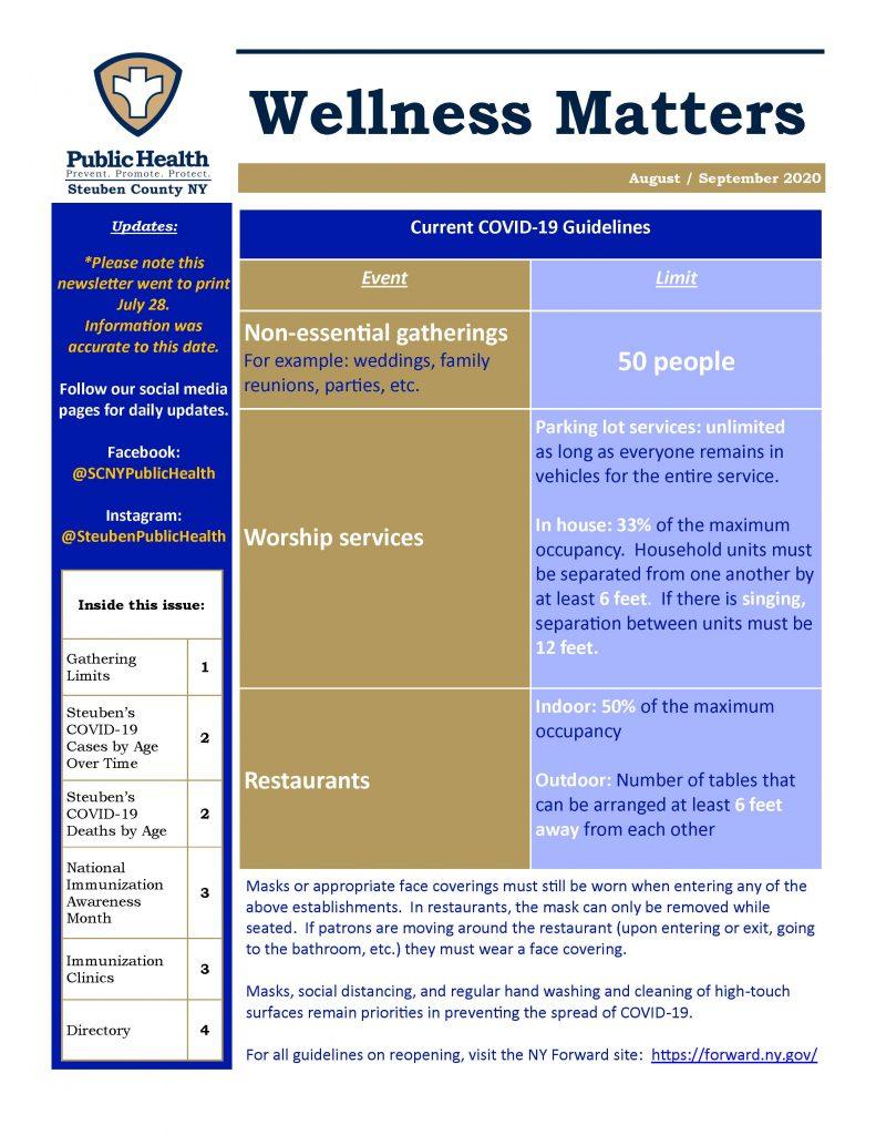 Aug Sept 20 Wellness Matters 1 Page 1 791x1024 - Steuben County Public Health - Wellness Matters (Aug./Sept.)