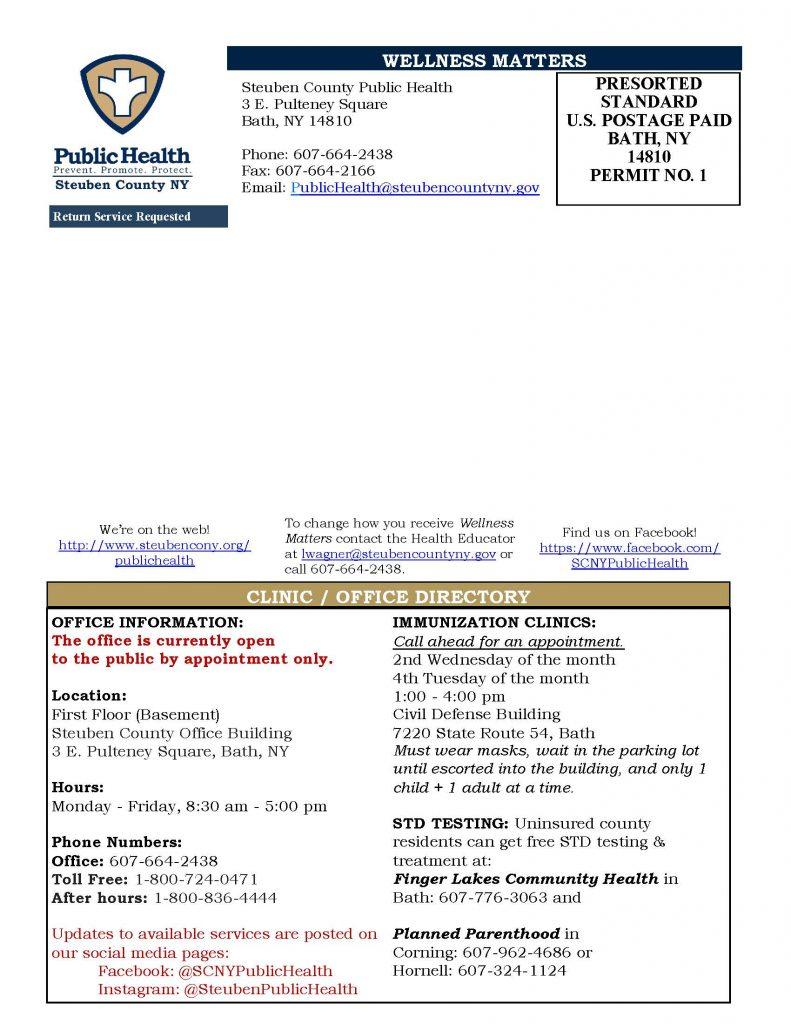 Aug Sept 20 Wellness Matters 1 Page 4 791x1024 - Steuben County Public Health - Wellness Matters (Aug./Sept.)