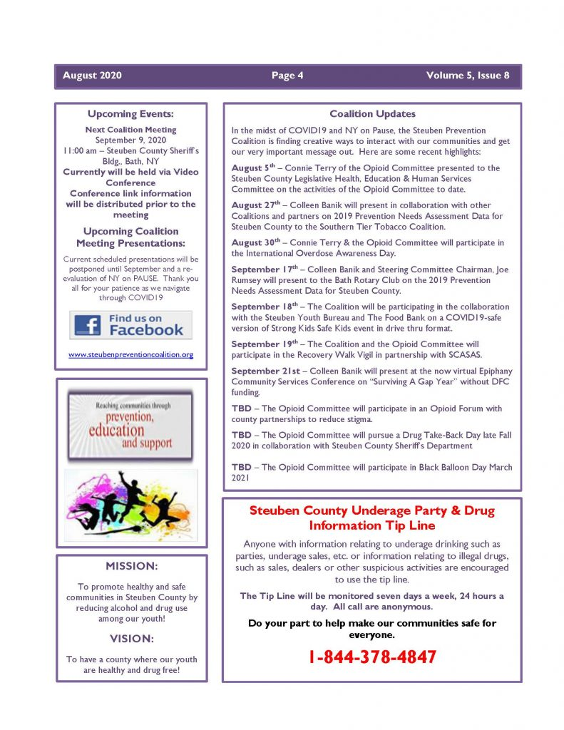 August 2020 Newsletter Page 4 791x1024 - Steuben Prevention Coalition - Ounce of Prevention (August)
