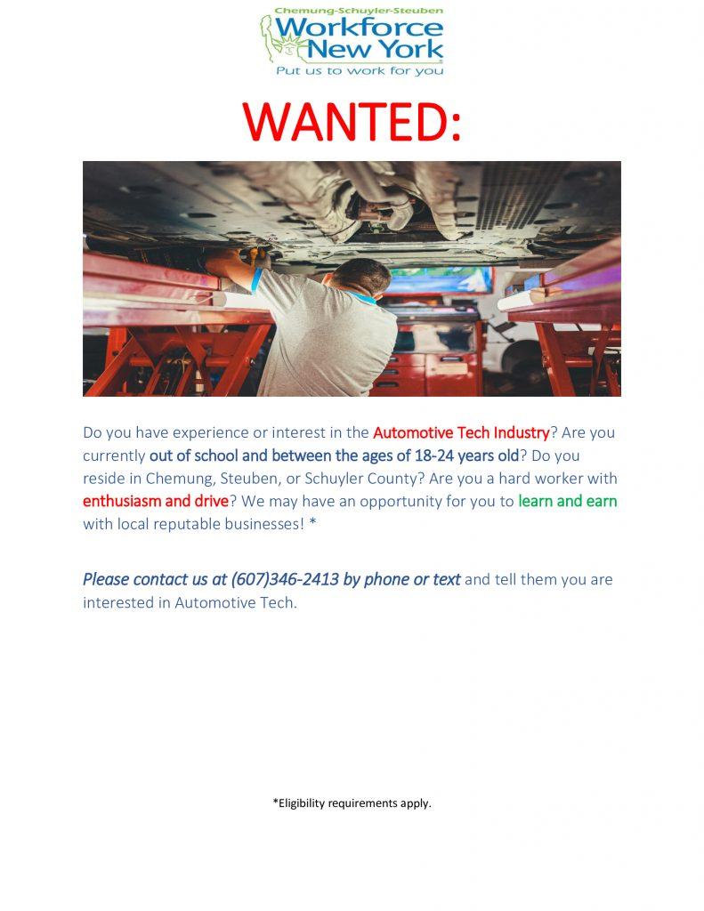 Auto Tech  791x1024 - CSS Workforce NY Shares Youth Employment Opportunities