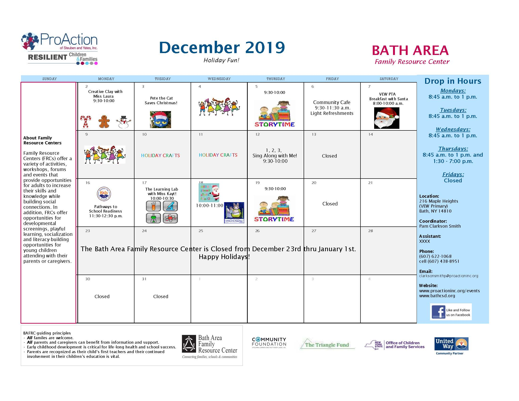 BAFRC Calendar December2019 - Bath Area Family Resource Center November Events