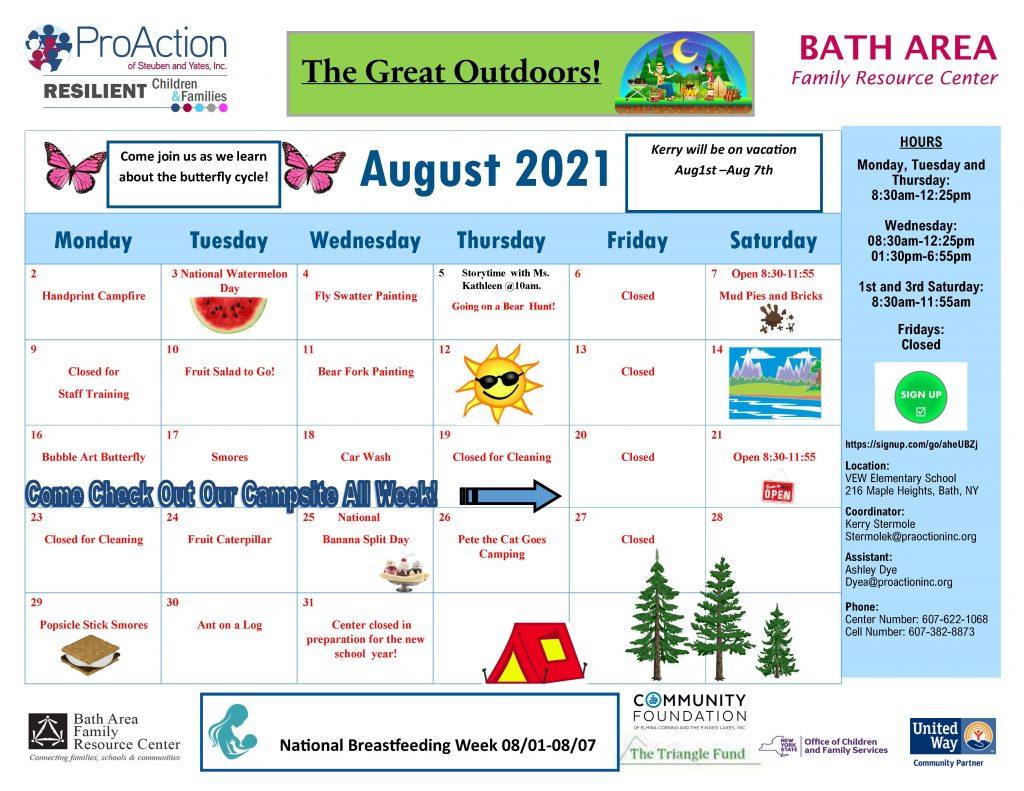 Bath FRC August Calendar 2021 1024x791 - ProAction Family Resource Center August Schedules