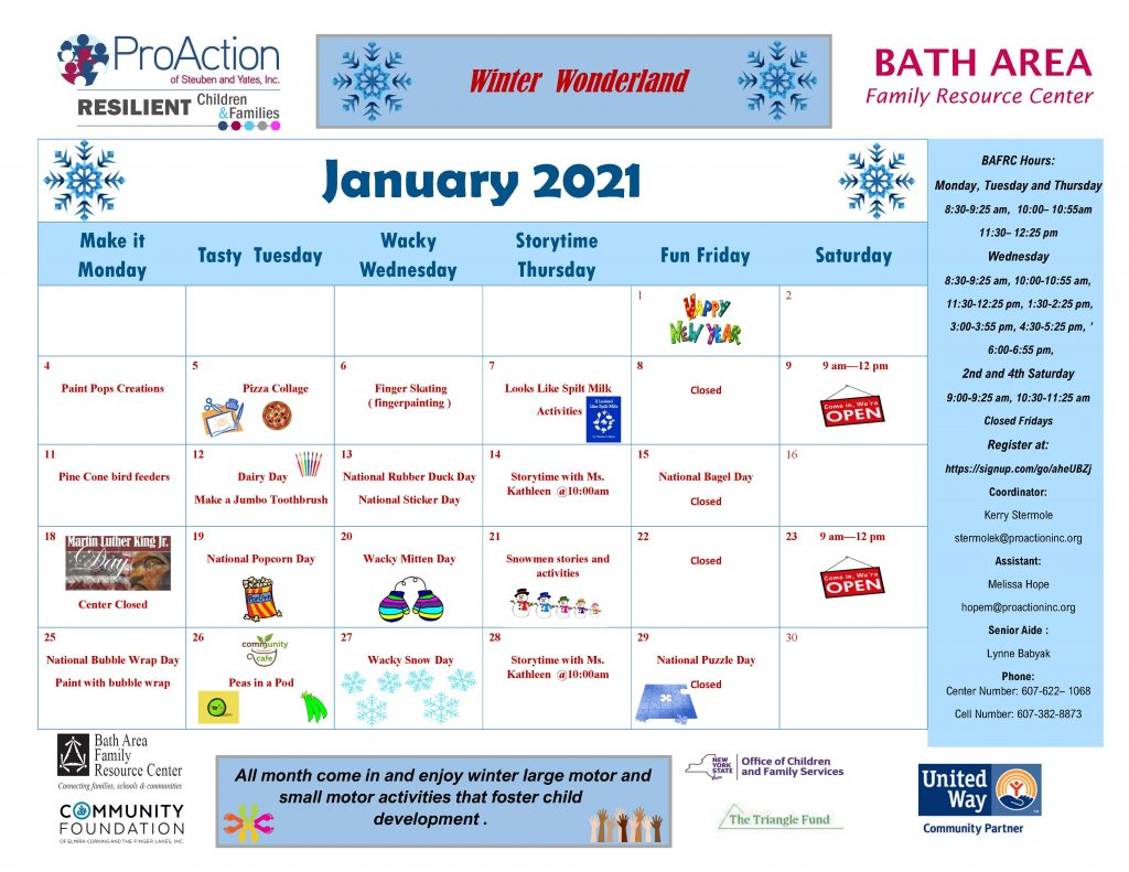 Bath FRC Calendar January 2021 1024x791 - Resilient Children and Families Community Calendar and Offerings