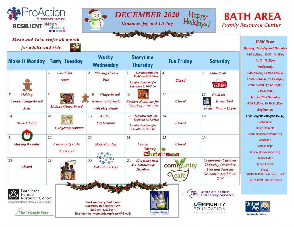 Bath FRC December 2020 1024x791 - Bath, Addison & Mobile Resource Center Schedules (December)