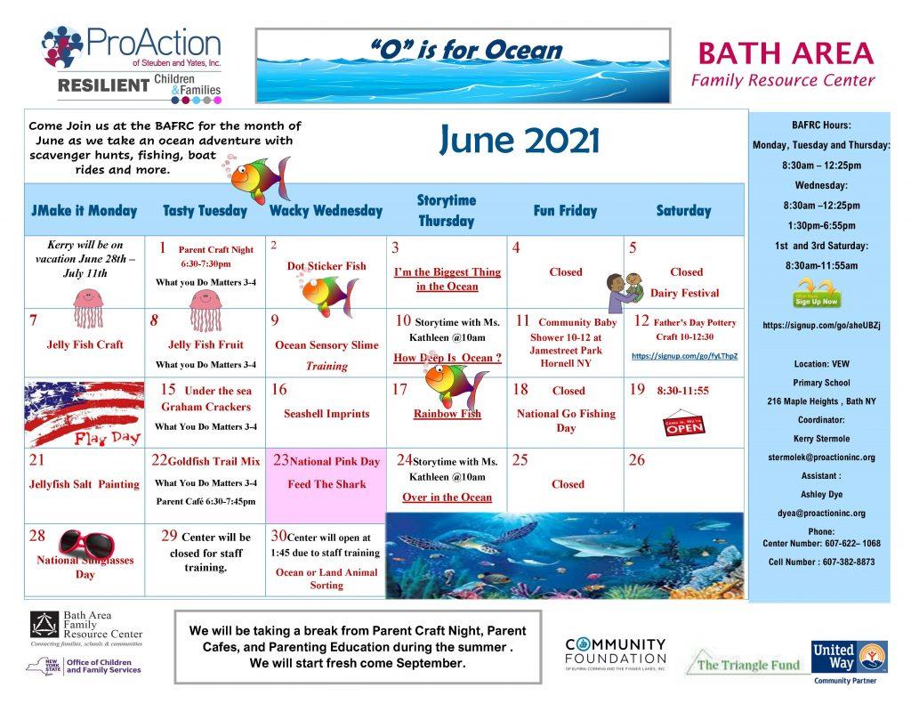 Bath FRC June Calendar 2021 1024x791 - ProAction Family Resource Center Calendars (June)