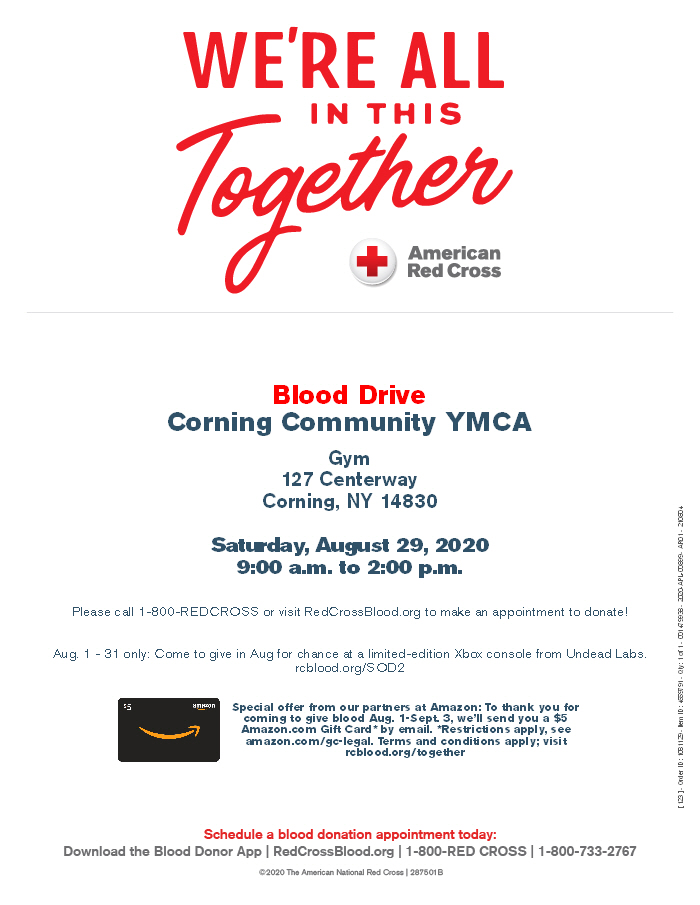 Blood Drive - American Red Cross Blood Drive (Corning)