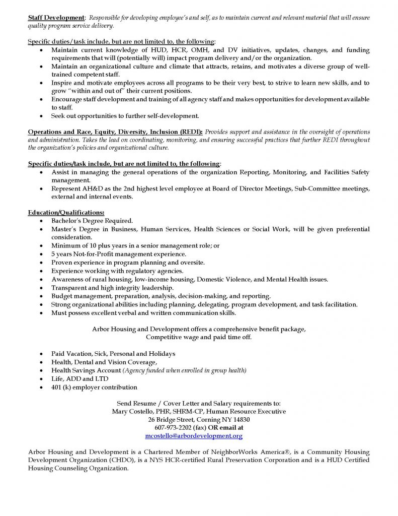 COO Advertisement 03 2021 Page 2 791x1024 - Job Post: Chief Operations Officer - Arbor Housing and Development