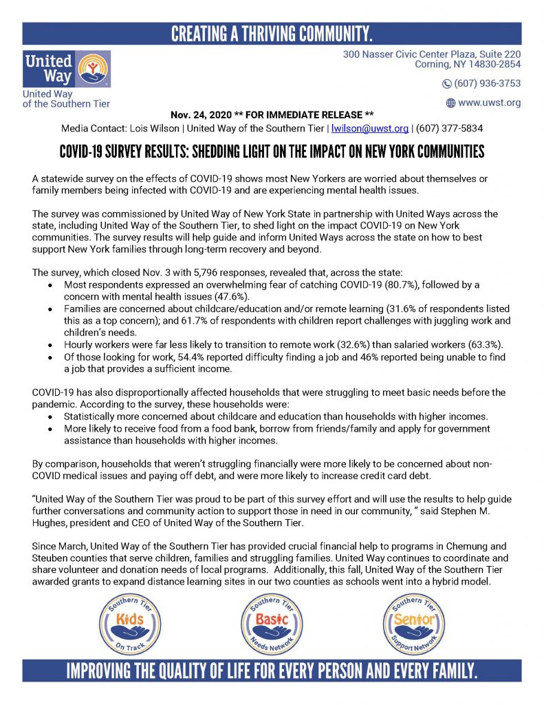 COVID 19 Survey Results 1 Page 1 791x1024 - United Way COVID-19 Survey Results: Shedding Light on the Impact