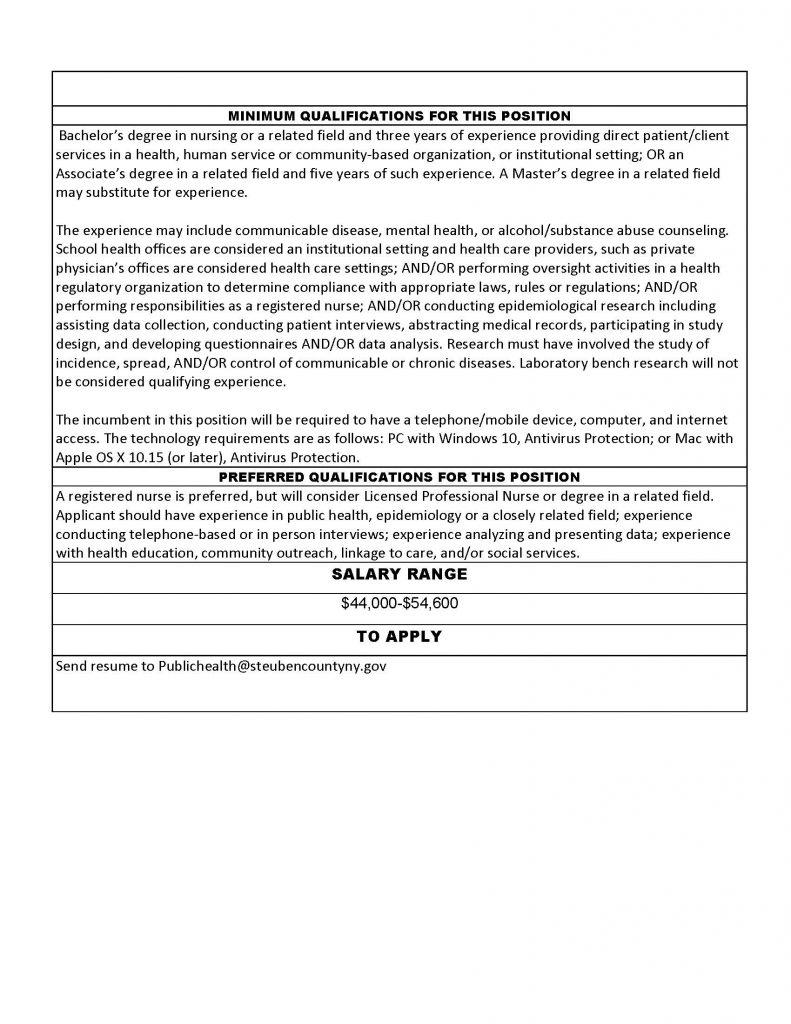 COVID1 1 Page 2 791x1024 - Job Post: COVID-19 Investigator - Steuben County Public Health