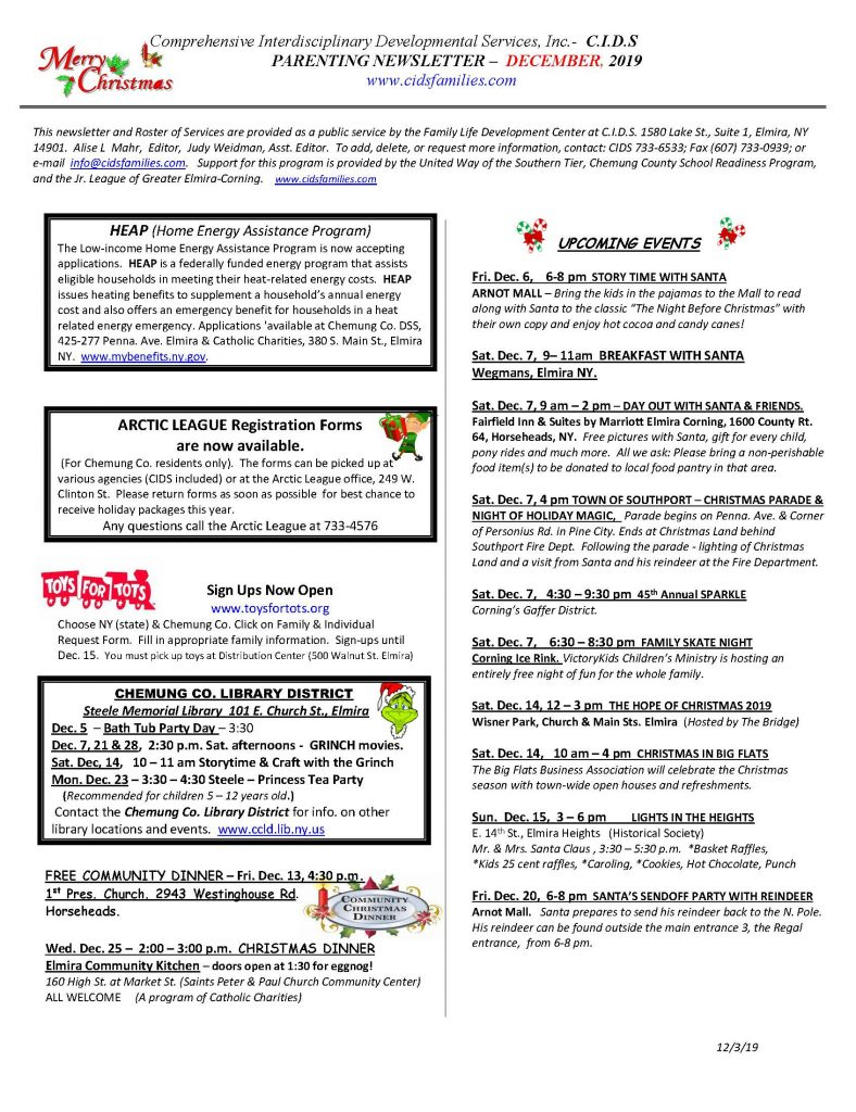 CURRENT DECEMBER NEWSETTER Page 1 788x1024 - CIDS Parenting Newsletter (December)