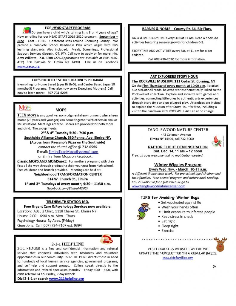 CURRENT DECEMBER NEWSETTER Page 6 791x1024 - CIDS Parenting Newsletter (December)