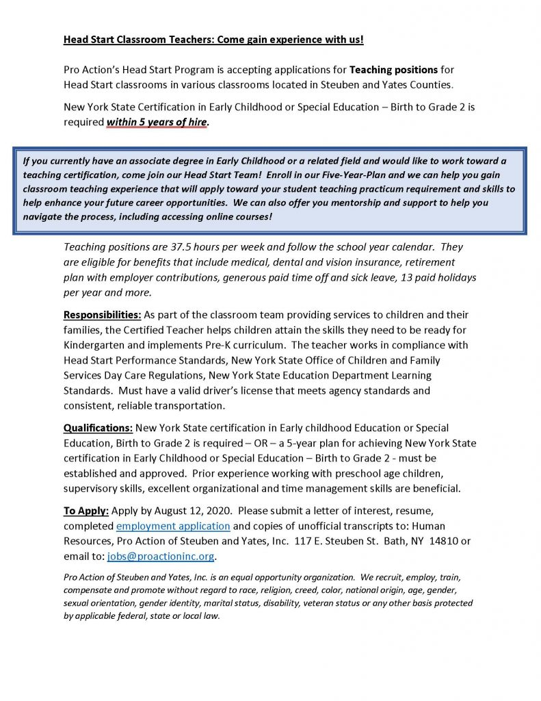 Certified Teachers 5 year plan 791x1024 - Job Post: Headstart Classroom Teachers (Various Locations)