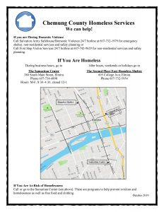 Chemung Homeless Services Flier October 2019 232x300 - Chemung Homeless Services Flier October 2019