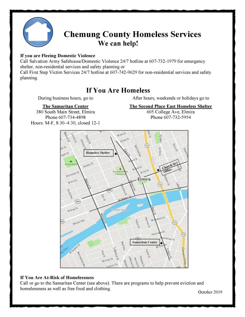 Chemung Homeless Services Flier October 2019 791x1024 - Homeless in Chemung County? There's help for that.