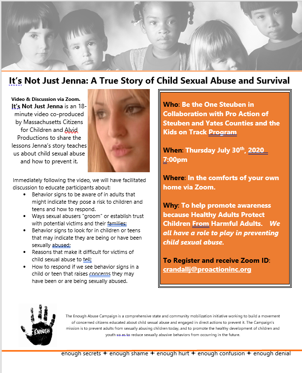 ChildSexAbuse - Child Sex Abuse Prevention Advocates to Hold Zoom Conference