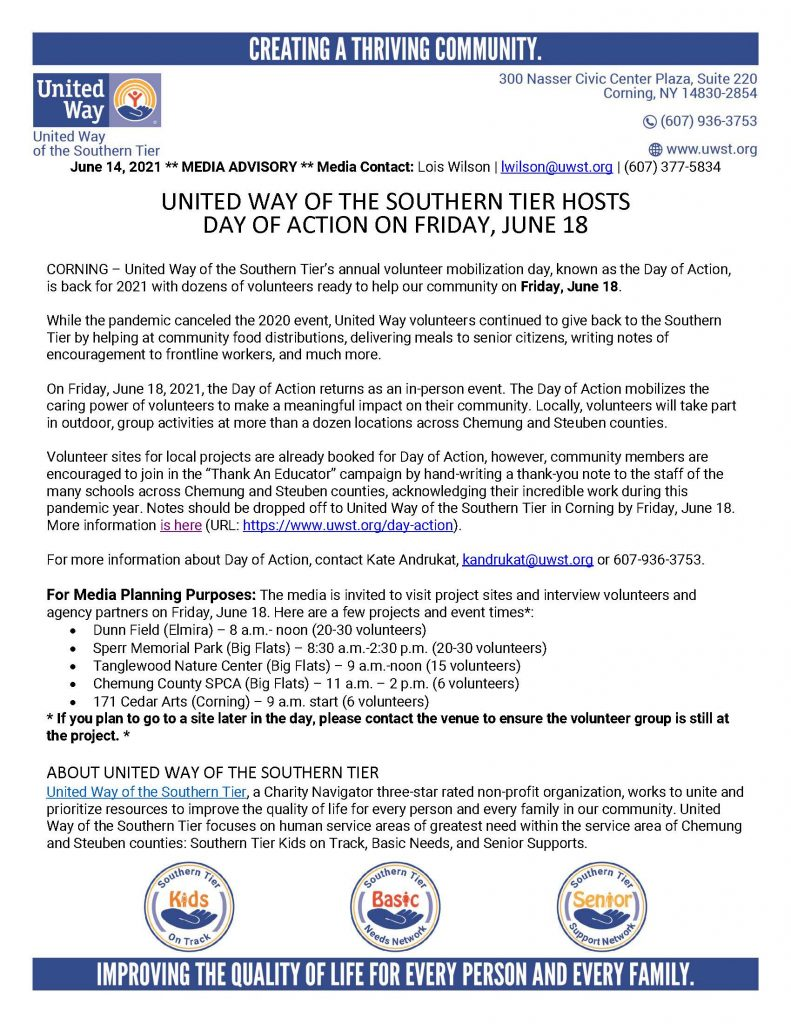 Day of Action 2021 Media Advisory  791x1024 - Join United Way's Day of Action on June 18