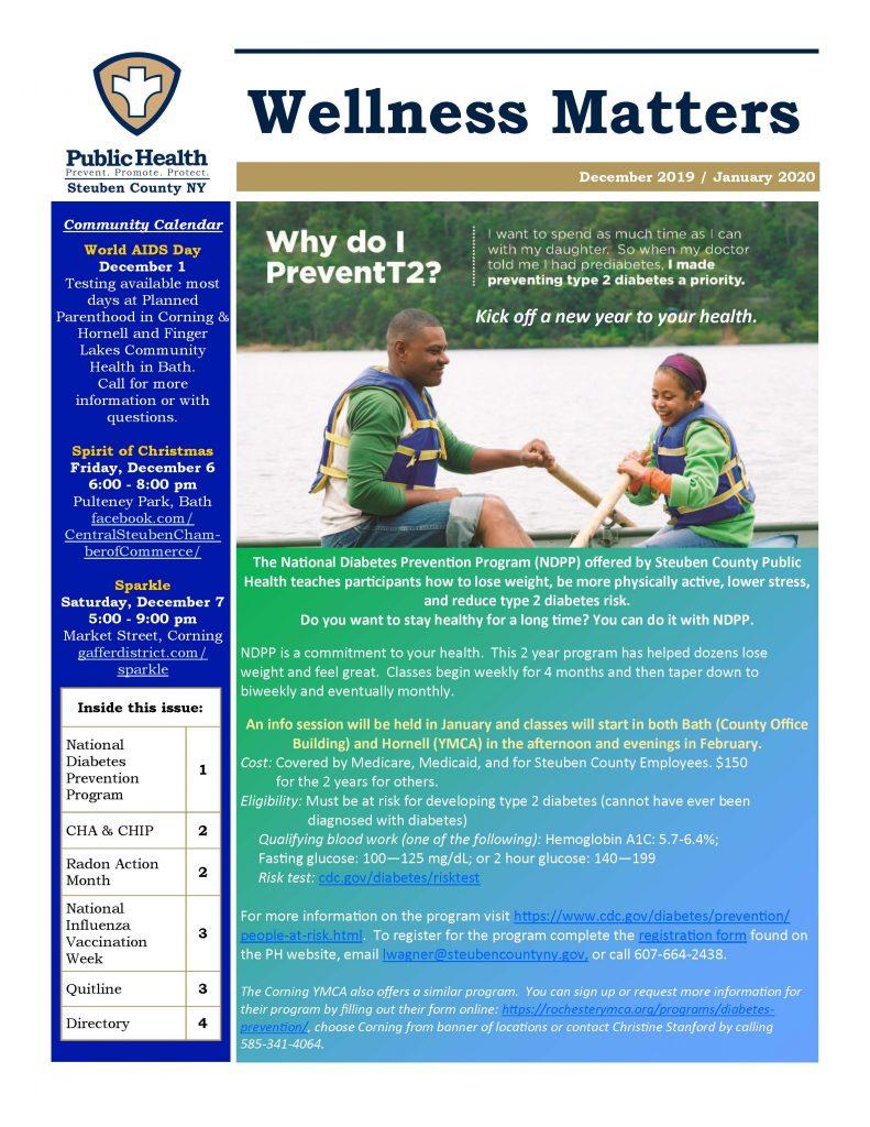 Dec 19 Jan 20 Wellness Matters Page 1 791x1024 - Steuben County Public Health - Wellness Matters
