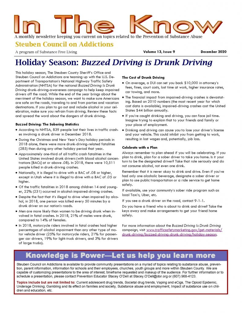 December Page 1 1 791x1024 - Steuben Council on Addictions - In the Know (December)