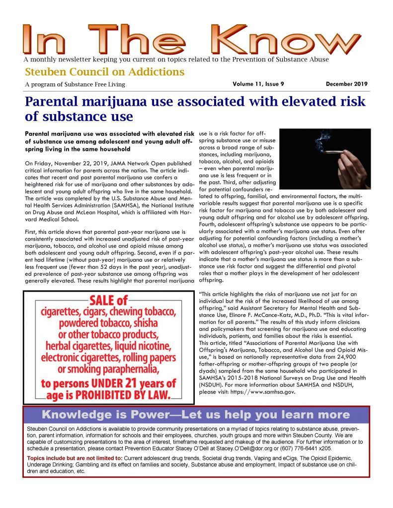 December Page 1 791x1024 - Steuben Council on Addictions - In The Know (December)