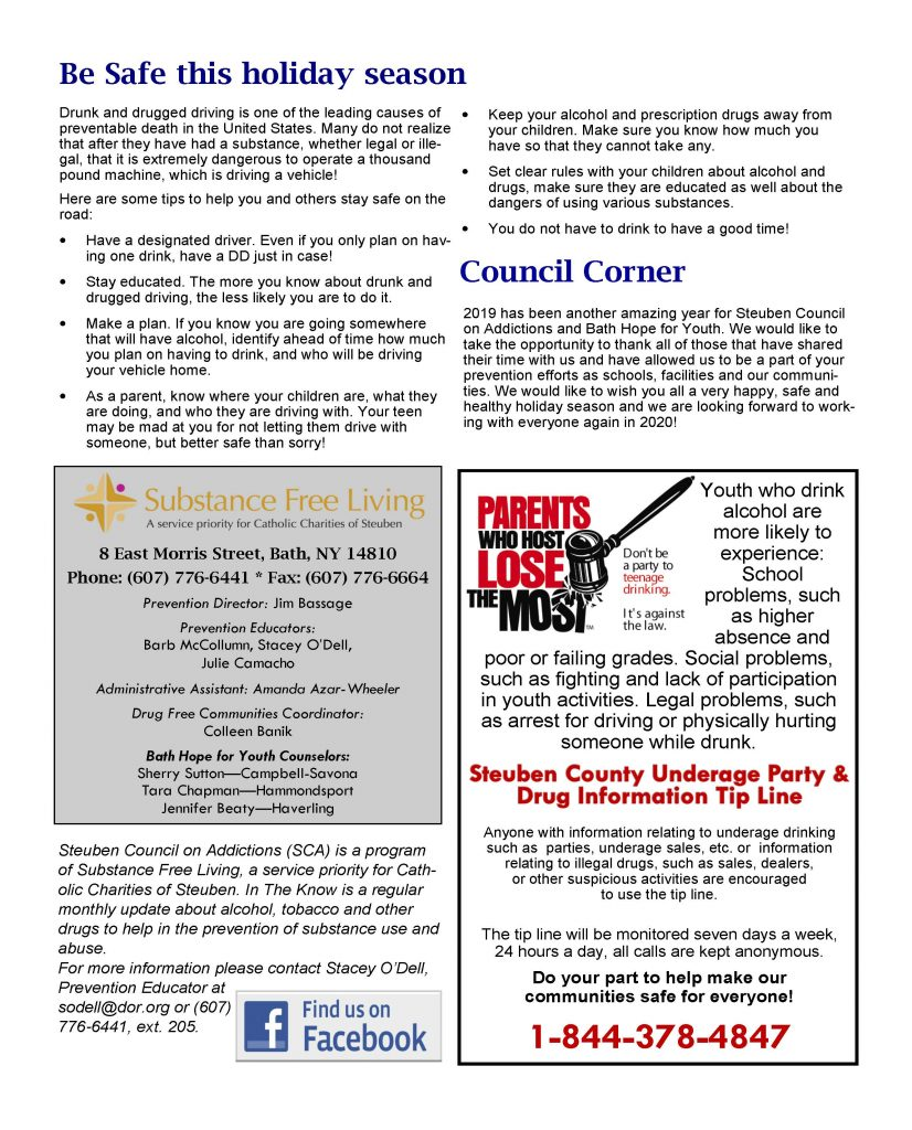 December Page 2 826x1024 - Steuben Council on Addictions - In The Know (December)