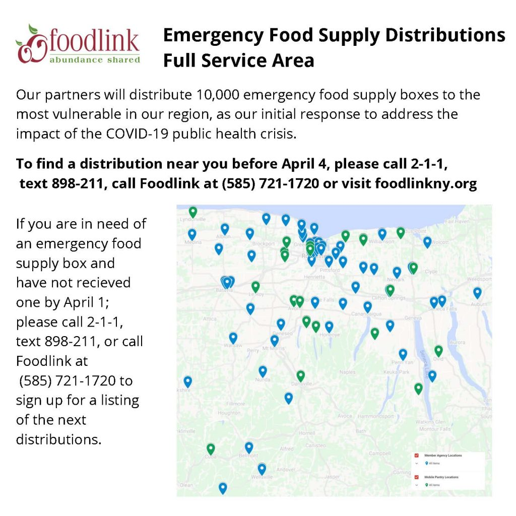 Emergency Dist. 4 4 Full Service Area 1024x1024 - Foodlink Announces Emergency Distribution Sites