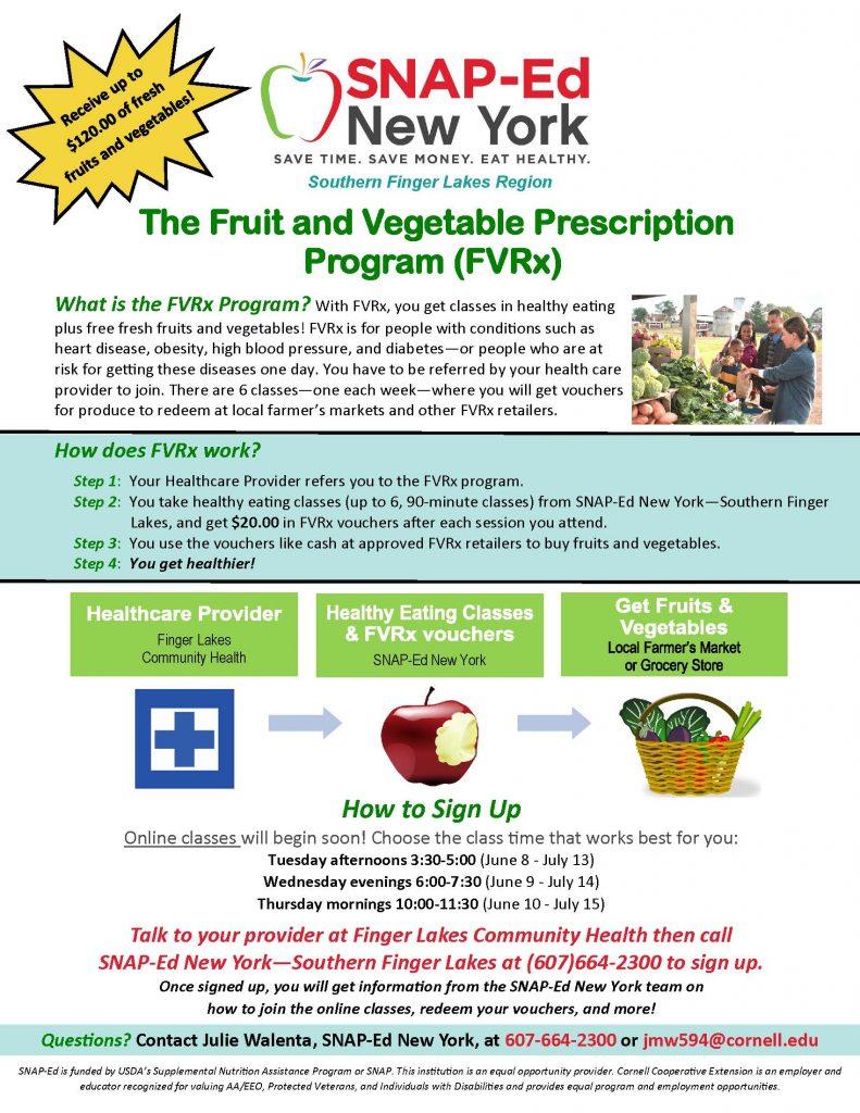 FY2021 FVRx Recruitment Flyer 791x1024 - Start the Summer With Fresh Vegetables