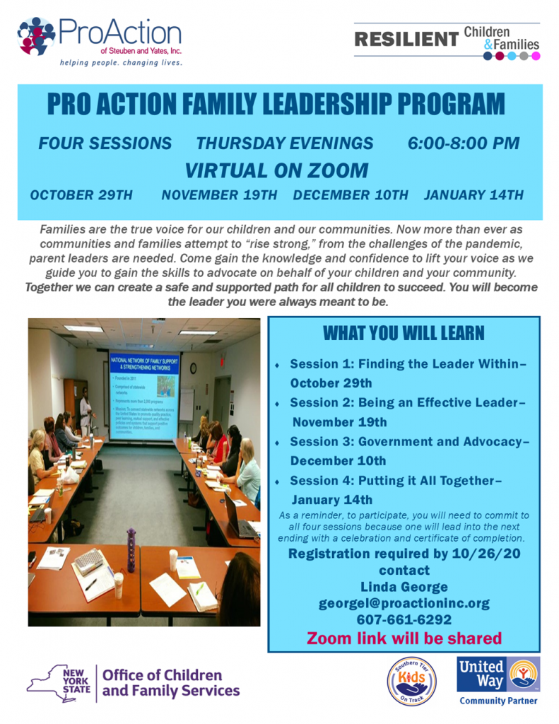 Family Leadership Program 791x1024 - ProAction Family Leadership Program Continues Via Zoom