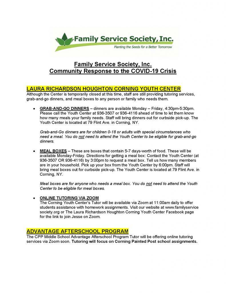 Family Service Society Inc response to COVID 19 Page 1 791x1024 - Family Services Society's COVID-19 Response