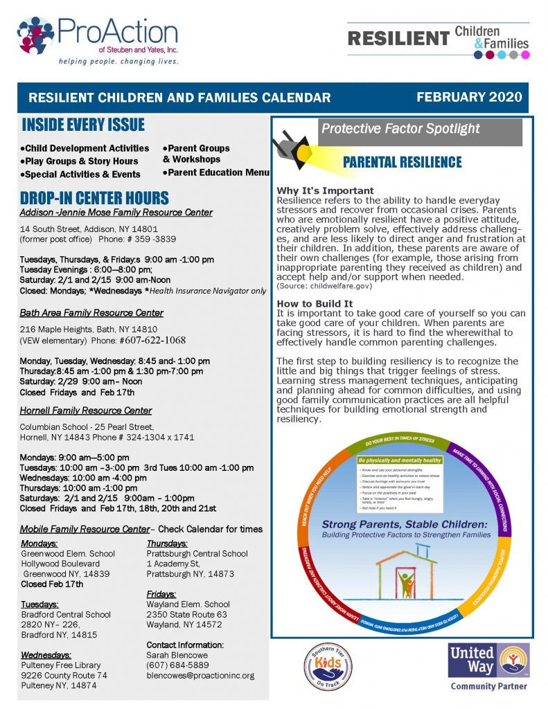 February 2020 Resilient Children and Families Community Calendar Page 1 791x1024 - Bath Area Family Resource Calendar (Feb.)