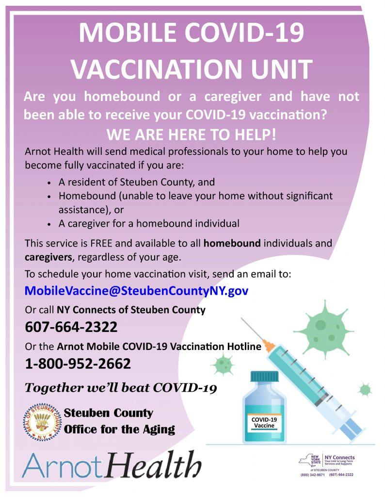 HB Vaccine Flyer 794x1024 - COVID Vaccine Clinics are Going Mobile in Steuben County