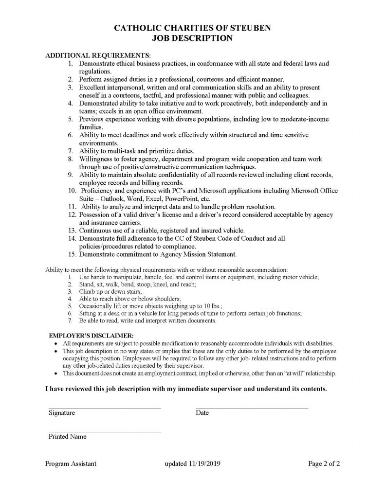 HR Program Assistant Page 2 791x1024 - Job Post: Program Assistant Steuben Prevention Coalition Opioid Committee