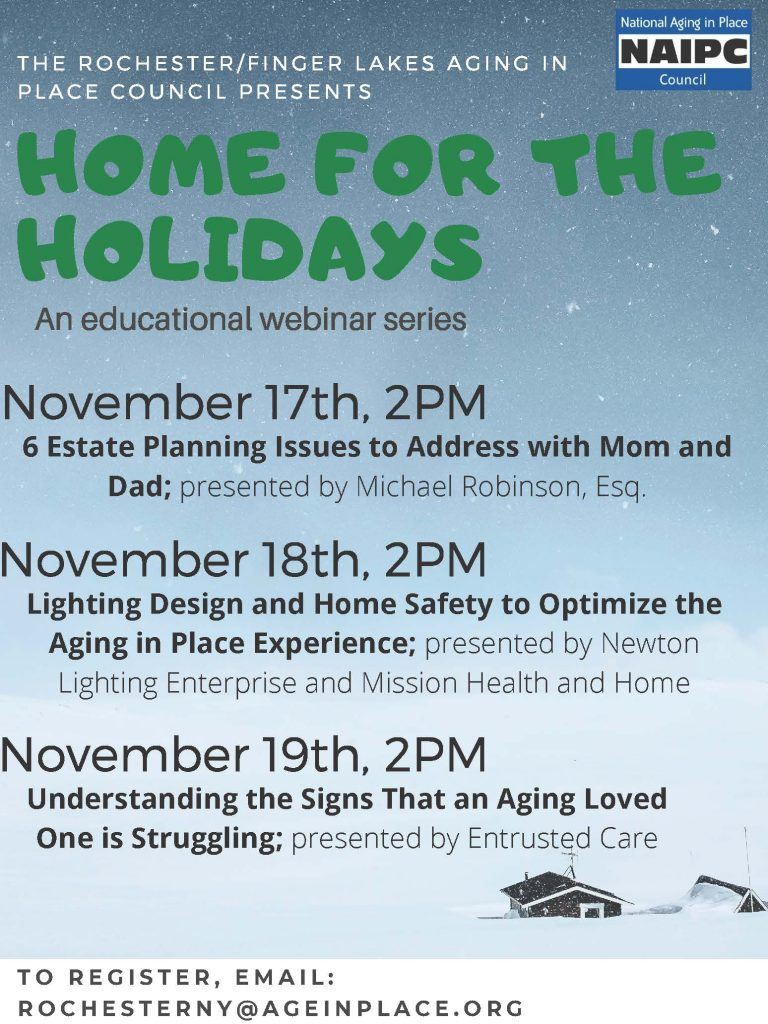 Home for the Holidays 1 768x1024 - Home for the Holidays Webinar Series on Aging in Place