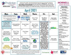 Hornell FRC April Calendar 2021 300x232 - Hornell FRC April Calendar 2021