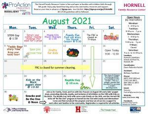 Hornell FRC August Calendar 2021 300x232 - Hornell FRC August Calendar 2021