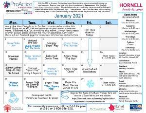 Hornell FRC Calendar January 2021 300x232 - Hornell FRC Calendar January 2021