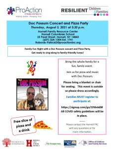 Hornell FRC Doc Possum and Pizza party August 2021 232x300 - Hornell FRC Doc Possum and Pizza party August 2021