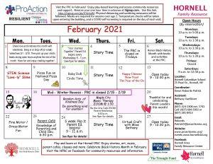 Hornell FRC February Calendar 2021 300x232 - Hornell FRC February Calendar 2021